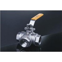 Stainless Steel 3 Way Type Ball Valve with Internal Thread