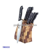 7pcs Knife Set in PP Handle with Cover