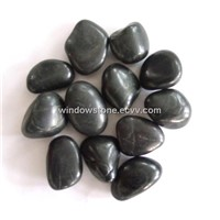 Natural Pebble Stone, black River stone