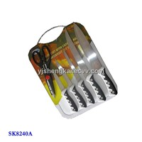 7pcs Knife Set in Two Color PP Handle