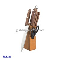 8pcs Knife Set in Wooden Handle