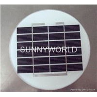 1.5 watt circular glass laminated mini solar panel