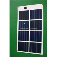 20W/15V Amorphous Silicon Thin Film Flexible Solar Module