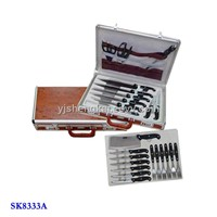 24pcs Knife Set In Wooden Handle