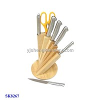 8pcs Knife Set in Stainless Steel Hollow Handle