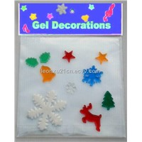 Christmas Window Gel Sticker