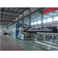 Extrusion line for plastic pipe