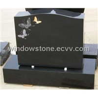 USA Style Black Granite Upright Monuments