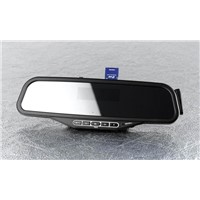 bluetooth Handsfree rearview mirror with LED Display