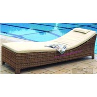 Poly Rattan Chaise Lounge