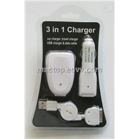 3 in 1 Charger for iPod
