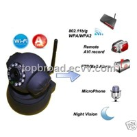 IR Network PTZ Camera Wireless CCTV Security System with Dual Audio Night Vision