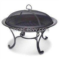 29-inch Fire Pit with High-temperature Black Painted Steel Fire Bowl