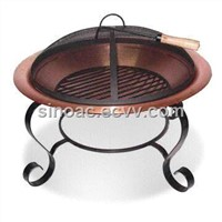 30-Inch Charcoal Fire Pit with Copper Fire Bowl
