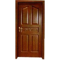 5 Panel PVC Coated Steel Door