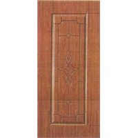 9 Panel Wood Grain PVC Laminated Steel Door