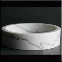 Carrara White Marble Sink
