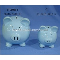Ceramic Piggy Coin Bank / Baby Gift