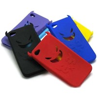 Halloween Devil Demon Silicone Case Skin For iPhone 4 4G