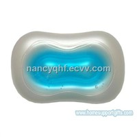 Inflatable gel bath pillow