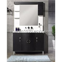 Pop Dark European Style MDF Bathroom Cabinet