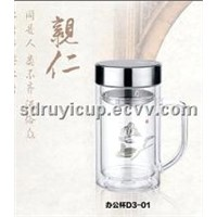 Double Wall Office Glass Cup