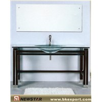 glass bathroom cabinet