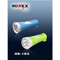 LED Rechargeable Flashlight, Portable Torch (HB-165)