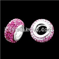 Crystal Edge Fancy Bead Silver Jewelry (CP-344-1)