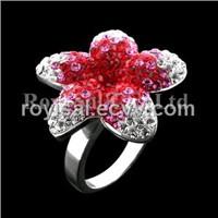 Crystal Edge Flower Fancy Ring Jewelry (RS-131-3)