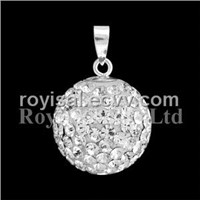 Crystal Edge Shine Big Ball Pendant Jewelry (CP-236-16mm-1)