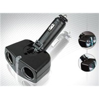 2-way Vehicle Cigarette Lighter Adapter With V Type Splitter From China Manufacturer, Exporter