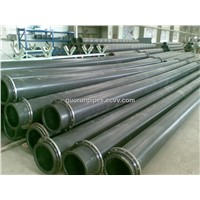 UHMWPE Pipe Instead of Steel Pipe to Transport Mud & Water