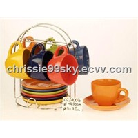 Ceramic Coffee Cup & Saucer