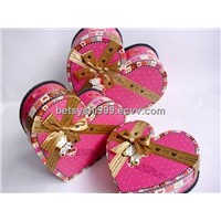 heart shape paper gift  packaging box