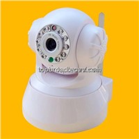 Pan Tilt Wireless Camera Home Alarm System with Two-Way Audio Remote Control