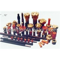 rock drilling accessories (drill rod and drill bit)