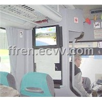 "19"" Bus 3G / WiFi / GPRS Network LCD Ad Player"