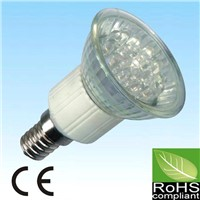 1W 21LED JDRE14 warm white/white LED spotlight