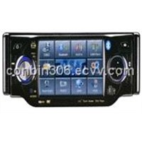 "1 din  4.0"" digital TFT LCD display car dvd player with bluetooth and touch screen USB/SD (4001)"