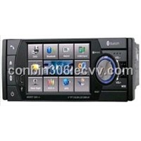 "1 din  4.0"" digital TFT LCD display car dvd player with bluetooth and USB/SD/TV (4003)"