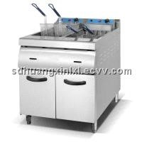 2-Tank Fryer (4-Basket) with Cabinet
