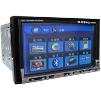 2 din 6.2 inch with -CH RCA Line out/Back camera video input car dvd player---7600