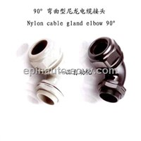 90 Right Angle Elbow plastic Cable Gland