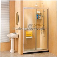 Double Sliding Doors Tempered Glass Simple Shower Door