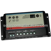 Dual battery charging solar controller,12V/10A/20A
