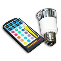 E27 5W RGB led spot lamp with remote controller