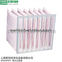 High efficiency synthetic bag filters