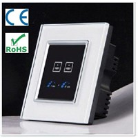 Touch &Timer switch/Luxury 2 gang/Crystal glass-VL-R102T-SWC