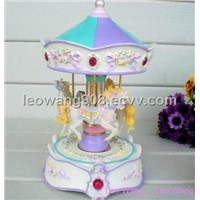 Music Box,Carousel Music Box,Music Crafts,Resin Music Box,